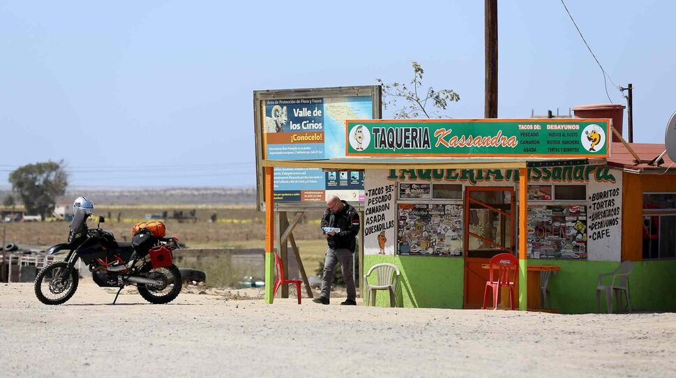 Day 5, Villa Jesús María in the northern Baja after the 325-kilometre journey between gas stations, April 26, 2016