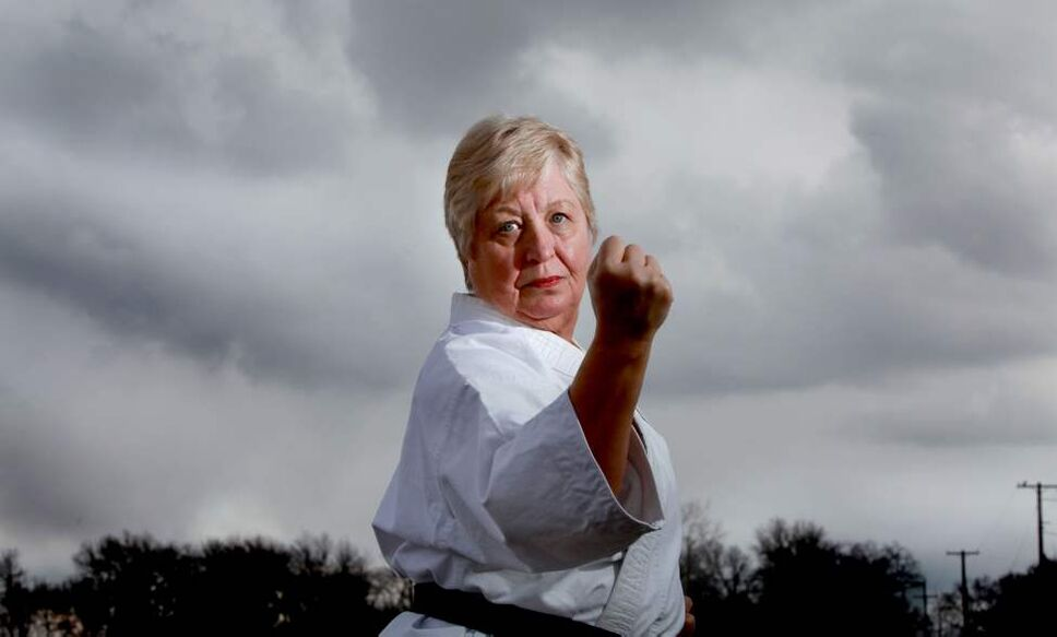 Marlene Smith, Karate and Self Defence instructor with her fourth degree black belt, teaches women how to protect themselves in any  circumstance.