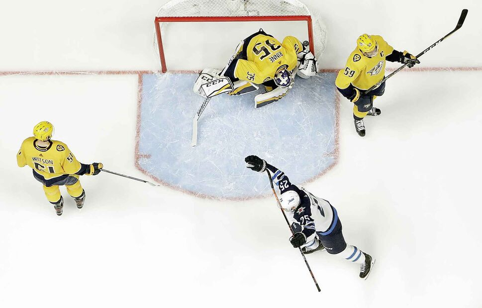 Winnipeg Jets played the Nashville Predators in the NHL hockey second-round playoff series in May. (Mark Humphrey / The Associated Press Files)