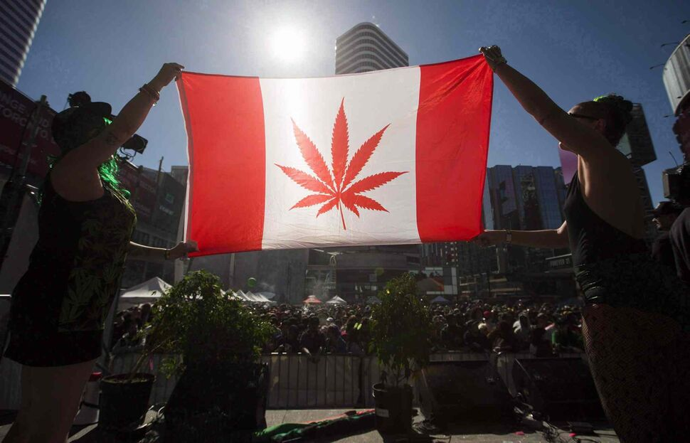 Canadian support for legalization has declined slightly since last summer, according to a recent online poll by Navigator Ltd. (Mark Blinch / Canadian Press files)