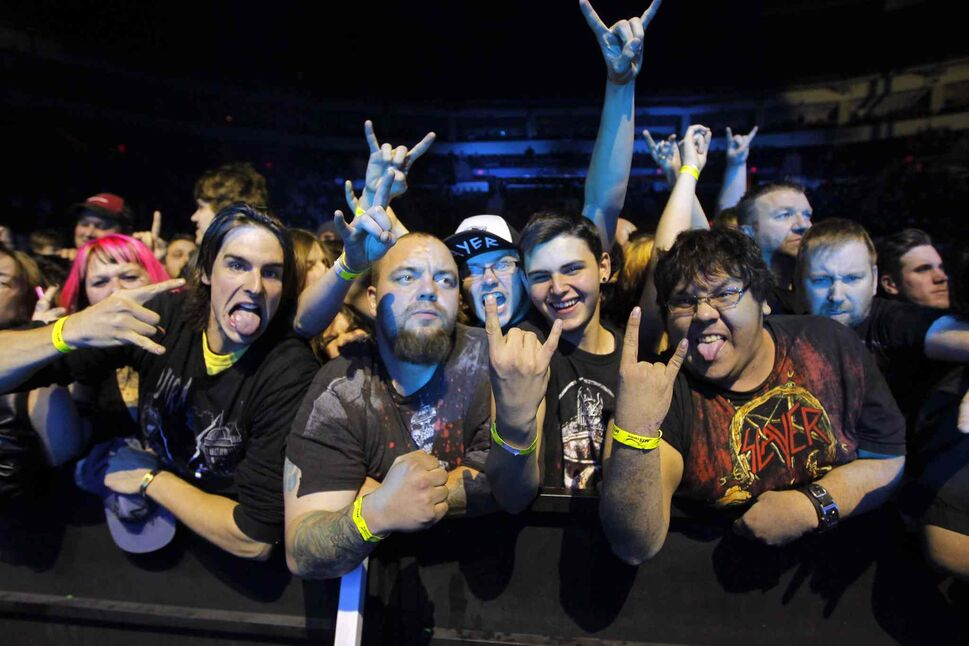 The thrash-metal band is known for its dedicated, passionate fans. (BORIS MINKEVICH / WINNIPEG FREE PRESS)