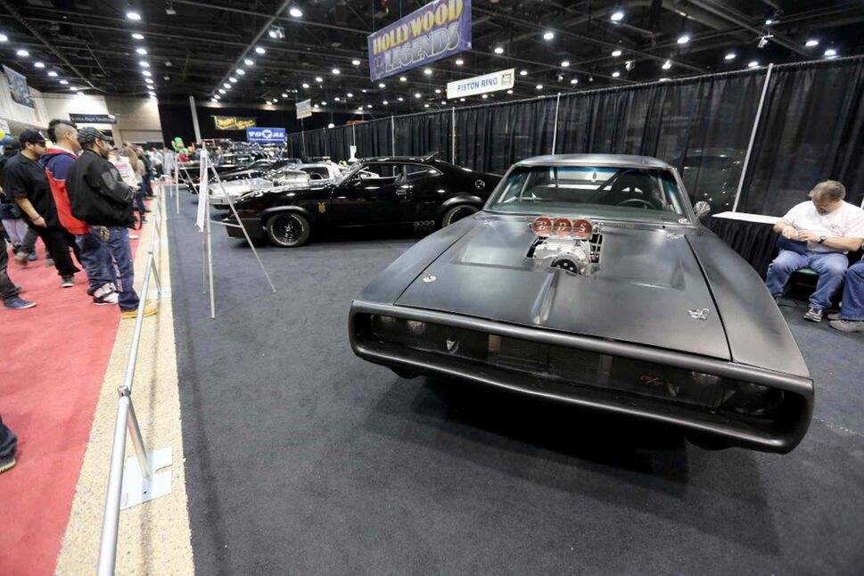 A Dodge Charger from the Fast and The Furious movie series at the World of Wheels Car show at the Convention Centre. (TREVOR HAGAN / WINNIPEG FREE PRESS)
