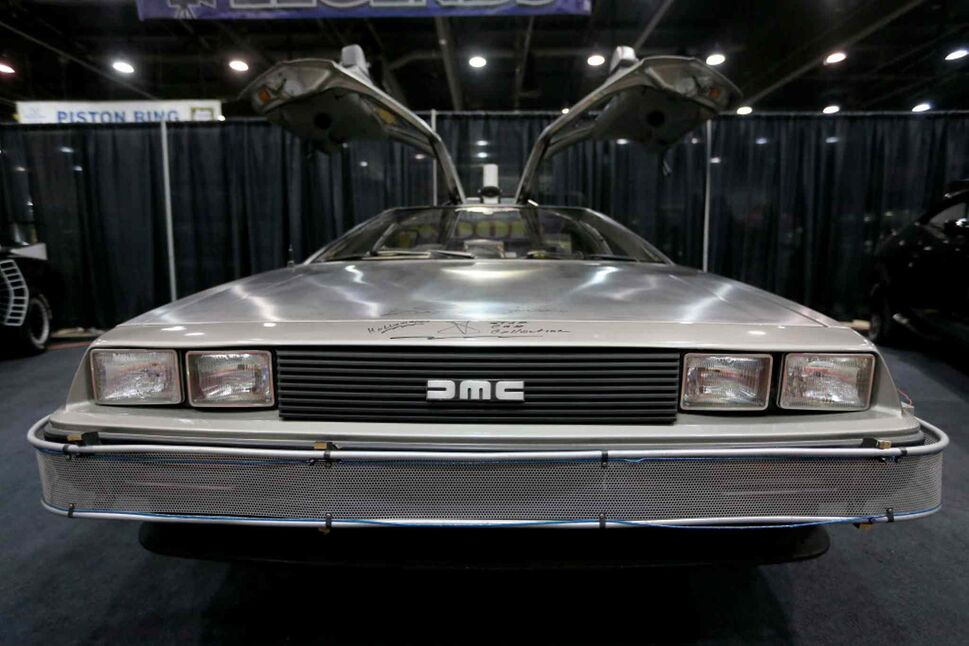 The Delorean from Back to the Future at the World of Wheels Car show at the Convention Centre, Saturday, March 15, 2014.  (TREVOR HAGAN / WINNIPEG FREE PRESS)