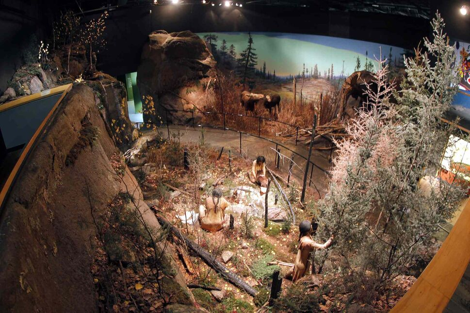 The Manitoba Museum. There are several life size scenes of how Manitoba's lived in the old days. BORIS MINKEVICH/WINNIPEG FREE PRESS