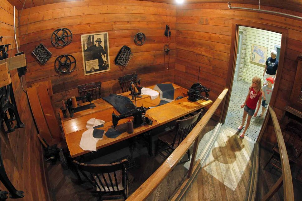 The Manitoba Museum. The railroad village shows how the shops looked like in the early settled Manitoba. BORIS MINKEVICH/WINNIPEG FREE PRESS