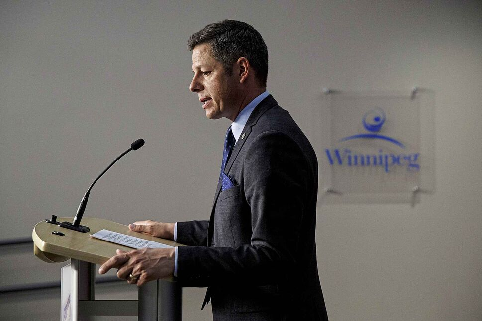 Winnipeg Mayor Brian Bowman  (MIKE DEAL / WINNIPEG FREE PRESS)