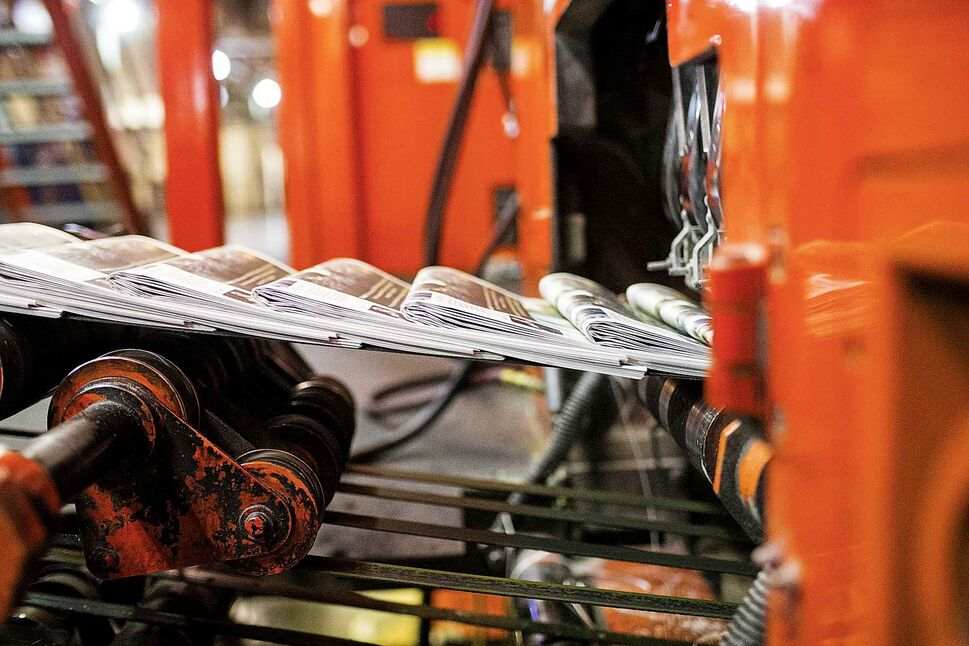 It's often called the daily miracle -- newspapers roll off the press late in the evening, after staff spent the day pursuing news, sports and arts stories. MIKAELA MACKENZIE / WINNIPEG FREE PRESS