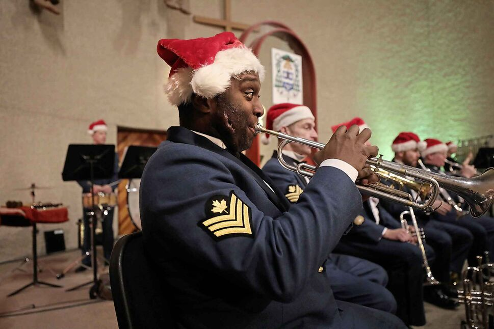 The Royal Canadian Air Force Band performs a Home for the Holidays concert at St. Boniface Cathedral on Dec. 11. Proceeds from the concert benefit the military community.