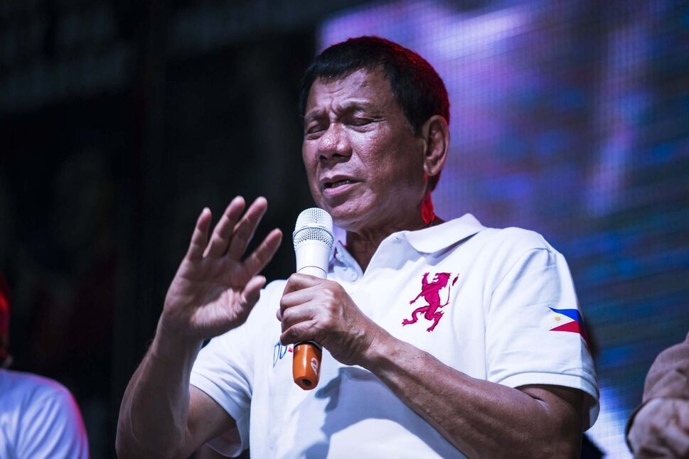 Rodrigo Duterte's strongman swagger has earned him the nicknames Duterte Harry and The Punisher. He was elected president of the Philippines.