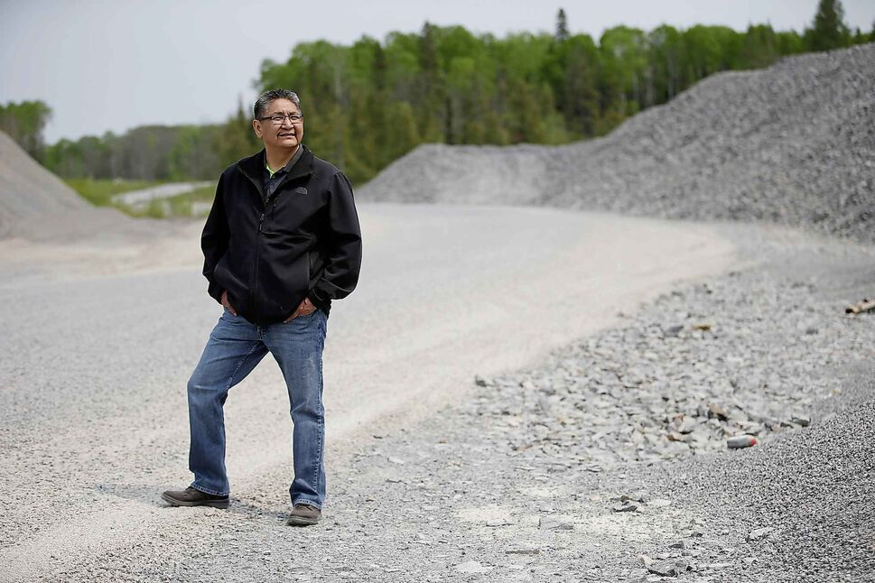 Chief Erwin Redsky of Shoal Lake 40 First Nation is photographed on Freedom Road. (John Woods / The Canadian Press files)
