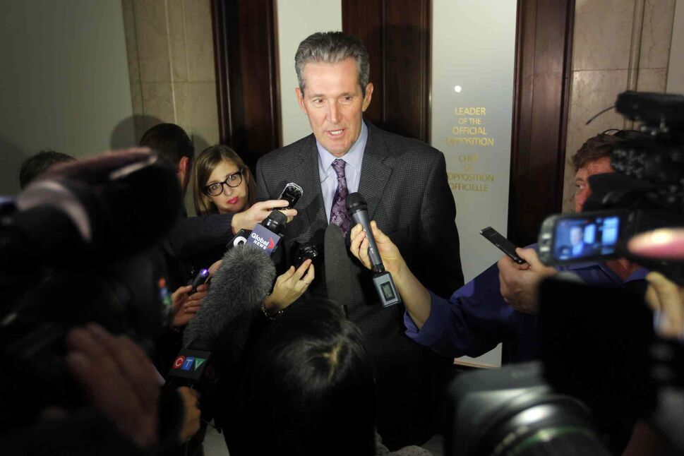 Conservative Leader Brian Pallister says the power struggle in the NDP is hurting Manitobans because it takes attention away from the business of governing the province. (Boris Minkevich / Winnipeg Free Press)