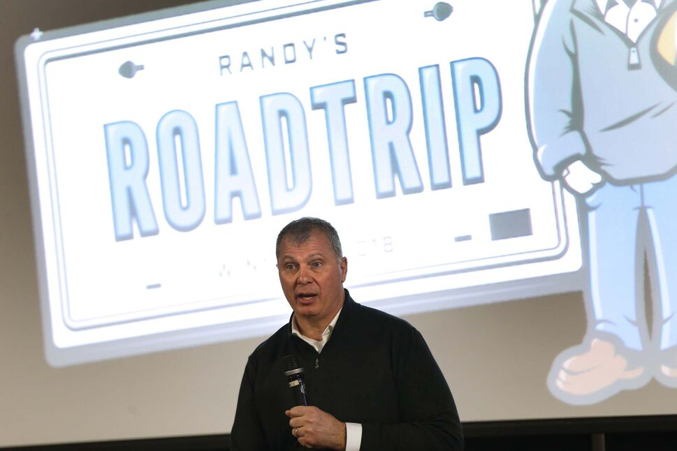 Canadian Football League Commissioner Randy Ambrosie talked to Winnipeg Blue Bombers fans Monday as part of his Randy's Roadtrip tour across the country.