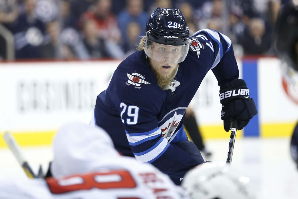 Patrik Laine, along with linemates Paul Stastny and Nikolaj Ehlers, have essentially been carrying the team offensively. (JOHN WOODS / WINNIPEG FREE PRESS FILES)