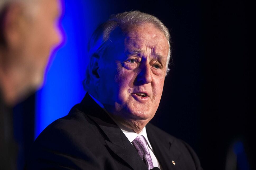 MIKAELA MACKENZIE / WINNIPEG FREE PRESS</p><p>Former Prime Minister Brian Mulroney takes part in a Q&A session with former news anchor Peter Mansbridge at a gala celebrating the opening of the Mandela exhibition at the Canadian Museum for Human Rights in Winnipeg on Monday.</p>