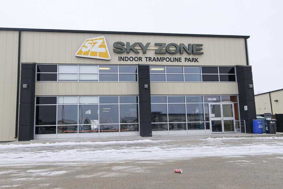 Sky Zone indoor trampoline park closed its doors for good on Sunday. (Mike Sudoma / Winnipeg Free Press<)