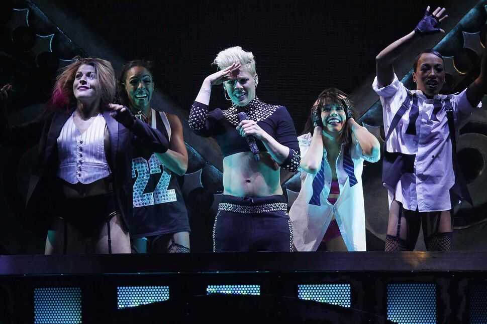 Pink performs at Winnipeg's MTS Centre Tuesday night. (John Woods / Winnipeg Free Press)