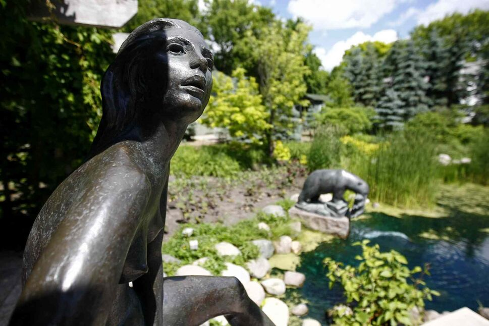 Leo Mol donated his statues to the Assiniboine Park, which attracts more then 250,000 visitors a year.  (Trevor Hagan / Winnipeg Free Press files)