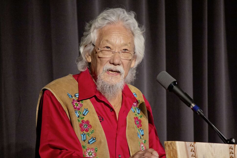 Oct. 4, 2019 -  David Suzuki, lecturing the crowd about how the most important issue of our time is climate change. Suzuki stopped by the University of Winnipeg as part of his Climate First Tour. (JUSTIN LUSCHINSKI/CANSTAR COMMUNITY NEWS/METRO) (Photos by Justin Luschinski)