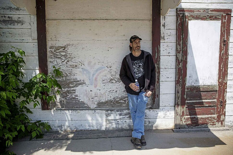 MIKE DEAL / WINNIPEG FREE PRESS</p><p>June 6 — Kyle Unger outside the old grocery store in Roseisle, MB. Unger, one of former prosecutor George Dangerfield's wrongly convicted 'killers,' spent 14 years behind bars for a grisly 1990 slaying. He's fighting for compensation the province says it doesn't owe him.</p>