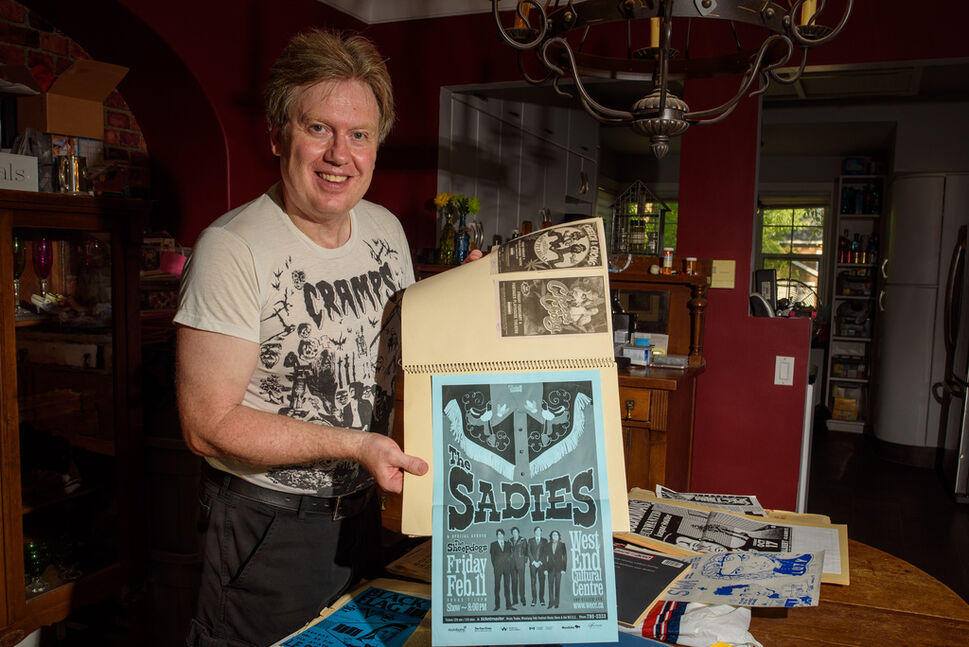 Glen Morris has seen a lot of shows and has the evidence to prove it. (Jesse Boily / Winnipeg Free Press)
