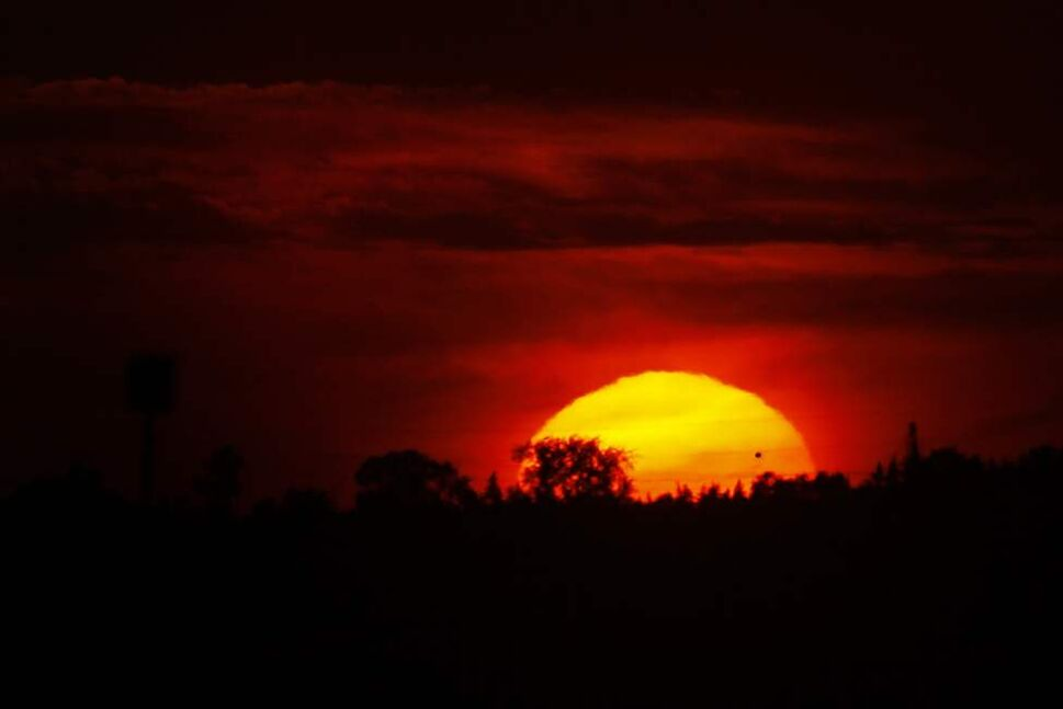 Venus against the sun  Tuesday June 5, 2012. The next time this will happen is in the next century. (John Woods / Winnipeg Free Press)