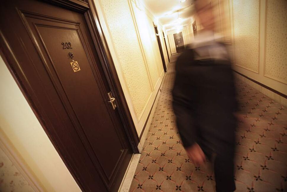 Outside of room 202 at Hotel Fort Garry Tuesday October 23, 2012. Allegedly this room is haunted. (John Woods / Winnipeg Free Press)