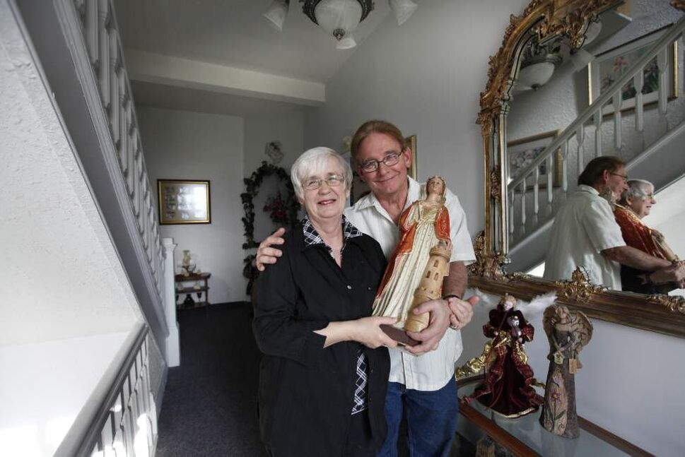 Jean and Linda Aquin began to suspect something was different about their house while doing renovations shortly after taking ownership. (Ruth Bonneville /  Winnipeg Free Press)