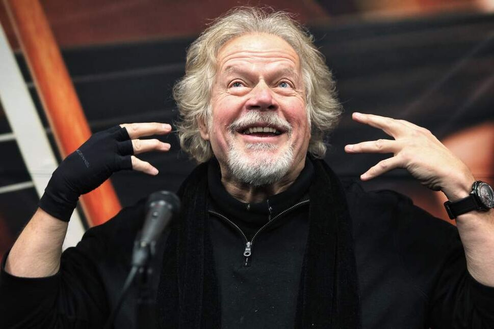 Randy Bachman discusses his upcoming collaboration with the Winnipeg Symphony Orchestra. December 03, 2014  (Mike Deal / Winnipeg Free Press)