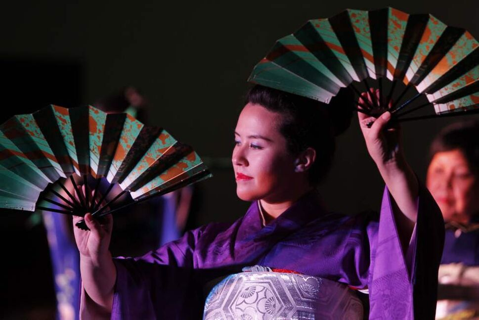 Dancer Sumi Siato-Kimanivong of the Aurora Dance Group performs at the Japan pavilion during Folklorama. August 8, 2011