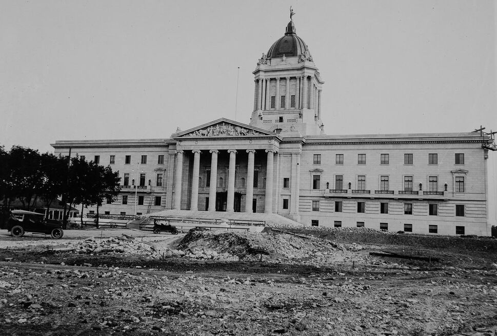 The legislature is completed in 1920 (Archives of Manitoba).