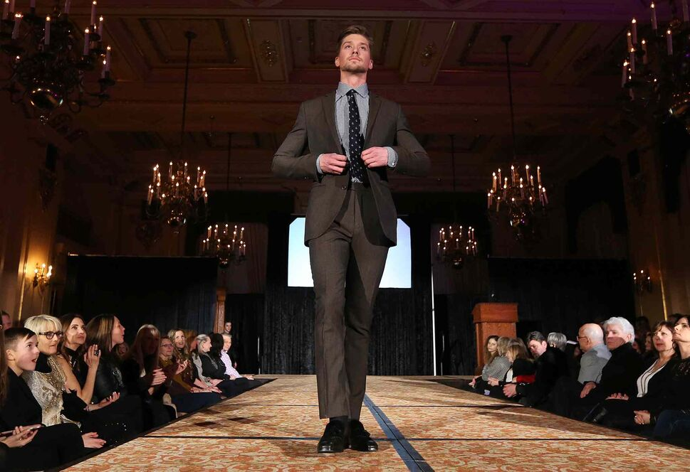 JASON HALSTEAD / WINNIPEG FREE PRESS</P><p>Models show off EPH Apparel clothing at the Runway to Change fashion show fundraiser presented by Qualico in support of Main Street Project on Feb. 2, 2017, at the Fort Garry Hotel.