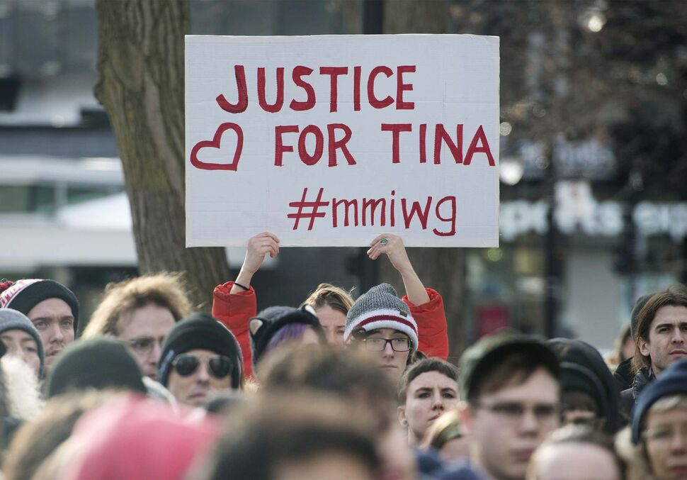There were protests across the country after Raymond Cormier was found not guilty in the death of Tina Fontaine. (Graham Hughes / THE CANADIAN PRESS files)