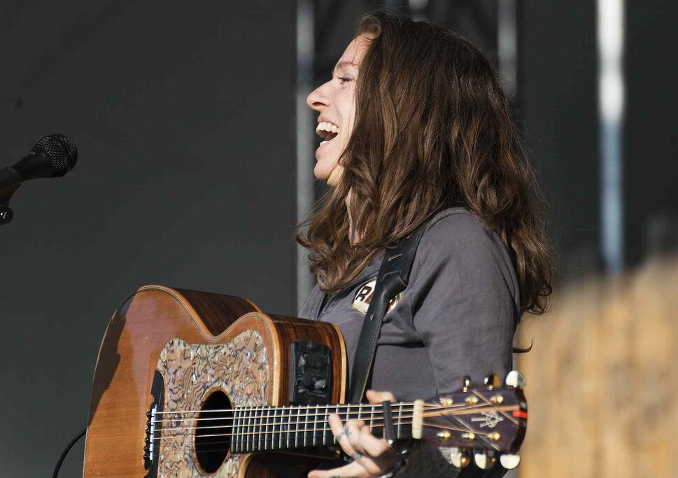 Ani DiFranco, who received the Winnipeg Folk Festival's Artistic Achievement Award in 2013, performs again at Folk Fest Saturday evening.   (Sarah Taylor / Winnipeg Free Press)