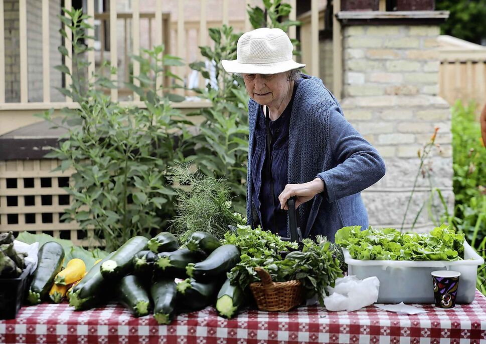 Ann Smith has been shopping at the West Broadway Farmers Market for 4 years.