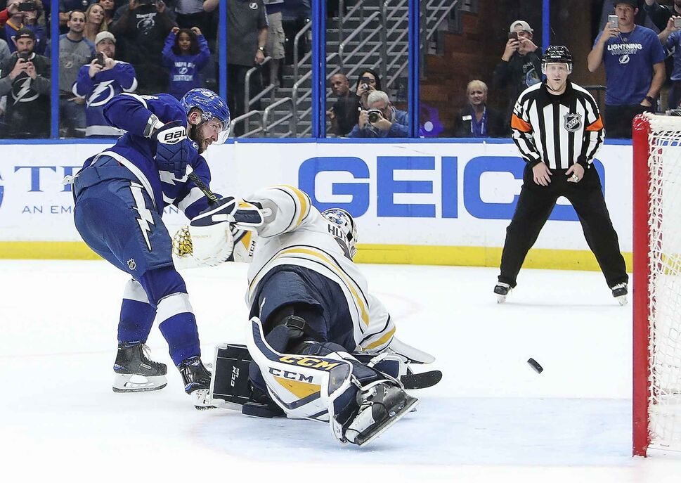 Tampa Bay's Nikita Kucherov was named one of the NHL's Three Stars for the month of February. (Dirk Shadd / Tampa Bay Times)