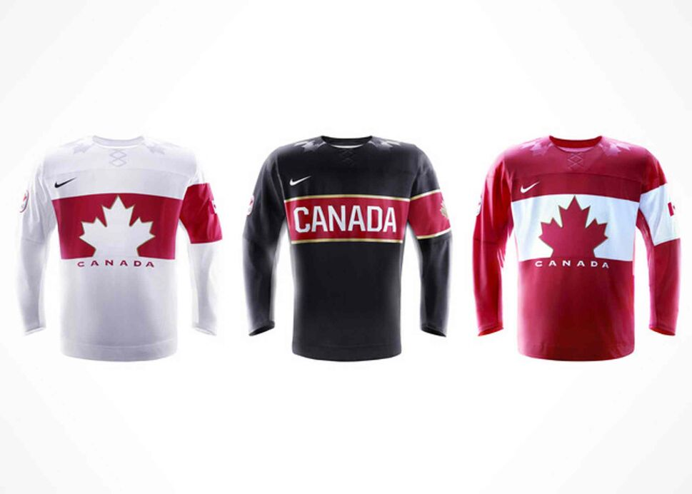 The jerseys unveiled Tuesday will be worn exclusively in competition by the men's, women's and sledge hockey teams representing Canada.  (Nike Inc.)