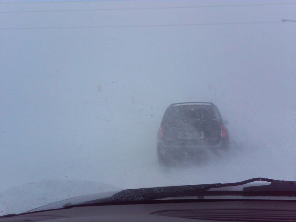 A tricky drive to work at East Mint Place and Lagimodiere Blvd. (Jonathan Millions)