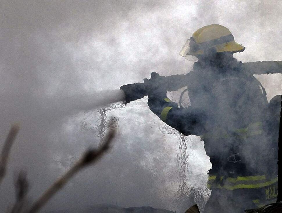 Winnipeg firefighters put out a stubborn fire in a horse barn at Unique  Centre on Sturgeon Road on a freezing cold February day. None of the horses were injured, but the barn was completely destroyed. February 28, 2011