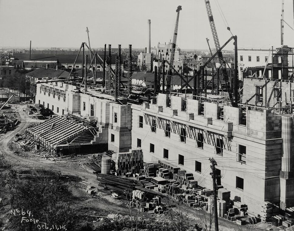 A view of the project from the south side in October 1915 (Archives of Manitoba).