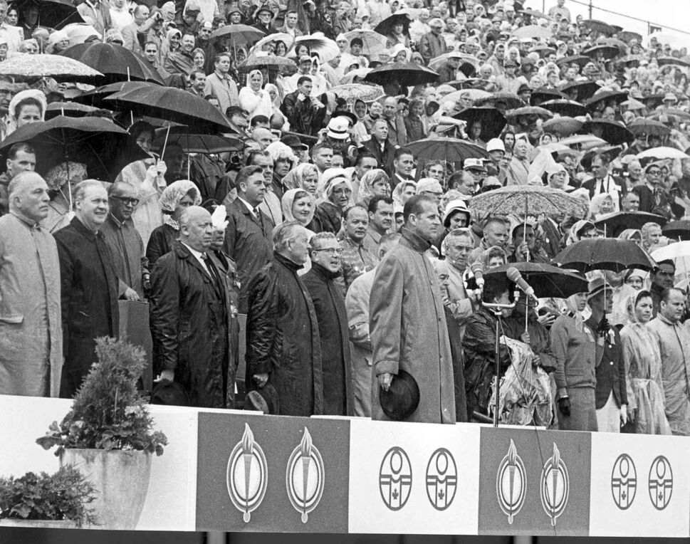 England's Prince Philip was in attendance for the opening ceremonies. (Winnipeg Free Press Files)