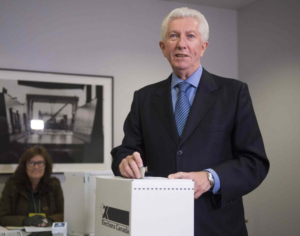 Bloc Quebecois Leader Gilles Duceppe casts his ballot Monday, October 19, 2015 in Montreal, Que. Canadians are going to the polls in a general election. THE CANADIAN PRESS/Jacques Boissinot (CP)