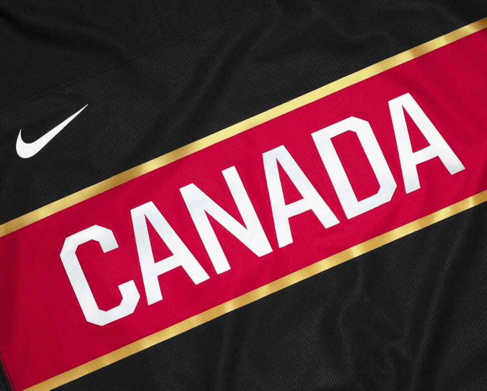"Canada will be the only team in Sochi with a third jersey. ""I'm not sure how much we'll wear it, but it'll be on the ice sometime during the Olympic games in Sochi,"" Hockey Canada president and CEO Bob Nicholson said. ""The fans like black, there's no question, and so do the players. But our real colours are red and white."" (Nike Inc.)"