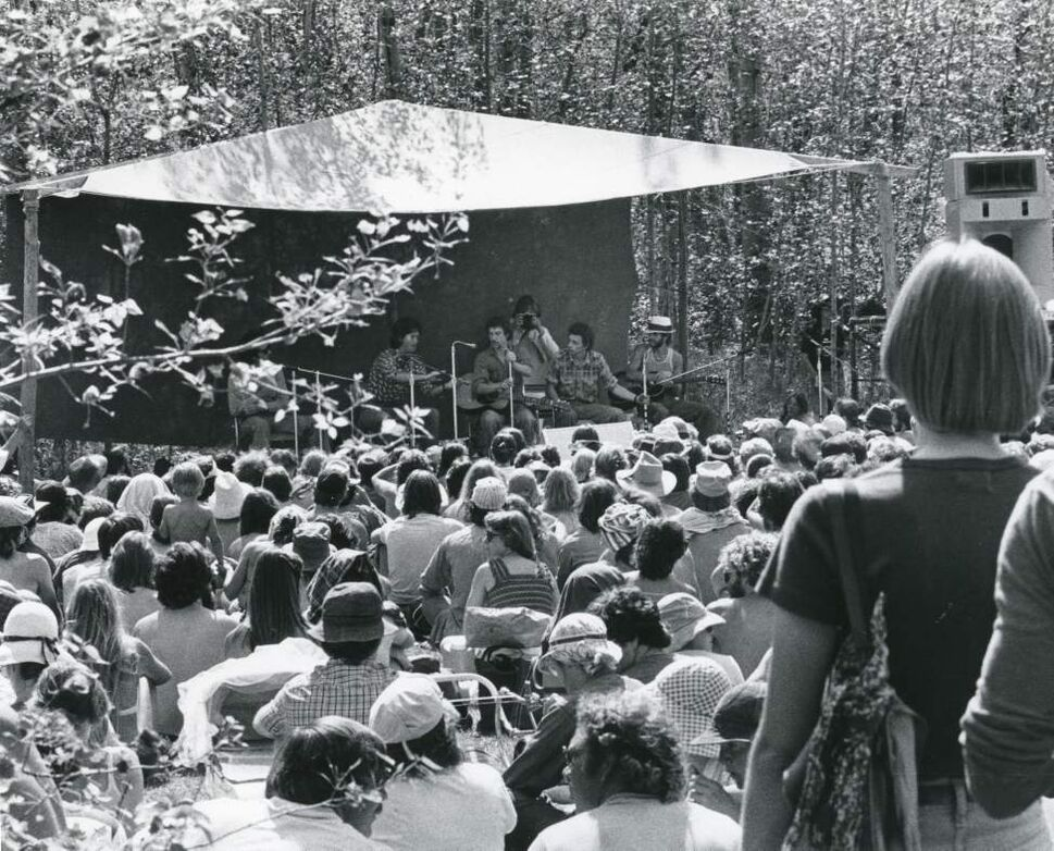 The Winnipeg Folk Festival in 1983. (WINNIPEG FREE PRESS)