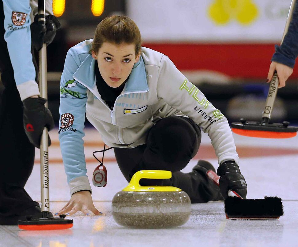 Beth Peterson in game vs Kristy Watling (KEN GIGLIOTTI / WINNIPEG FREE PRESS)