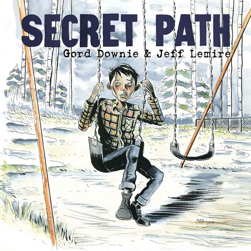 <h3>Secret Path</h3> <br/> By Gord Downie, illustrated by Jeff Lemire <br/> <strong>The story of Chanie (Charlie) Wenjack's attempt to escape the Cecilia Jeffrey Indian Residential School 50 years ago has helped draw increased/renewed attention to the mistreatment and abuse of indigenous children throughout our country's history. Gord Downie's sparse, profound words/lyrics (there's an accompanying album by him) beautifully intersperse Jeff Lemire's haunting, gloomy illustrations as the reader follows Charlie's cold, doomed journey by foot along a northern railroad line.<strong>  <br/> — Ben MacPhee-Sigurdson