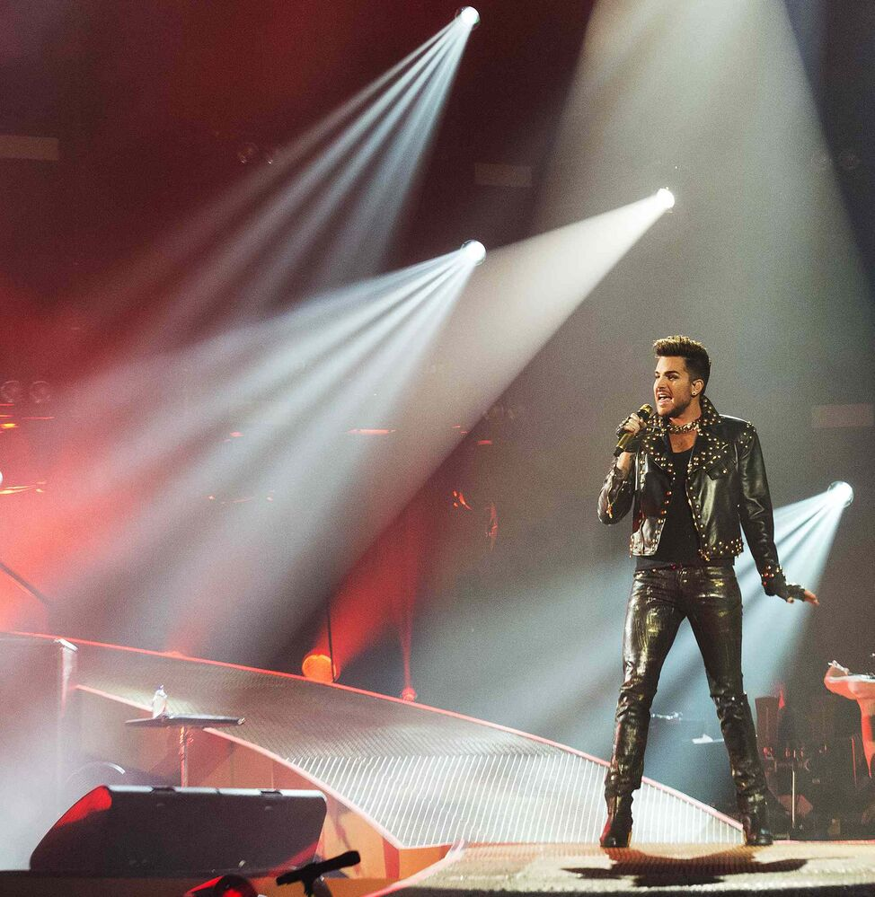 Queen + Adam Lambert perform at the MTS Centre on Saturday night. ( Sarah Taylor / Winnipeg Free Press)