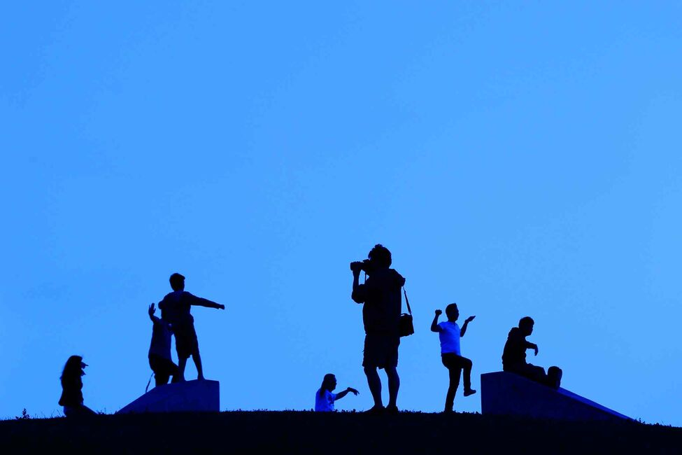 A silhouette on Garbage Hill in Winnipeg Tuesday, July 23, 2013.  (John Woods/Winnipeg Free Press)