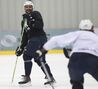 Playful Byfuglien deflects conditioning questions