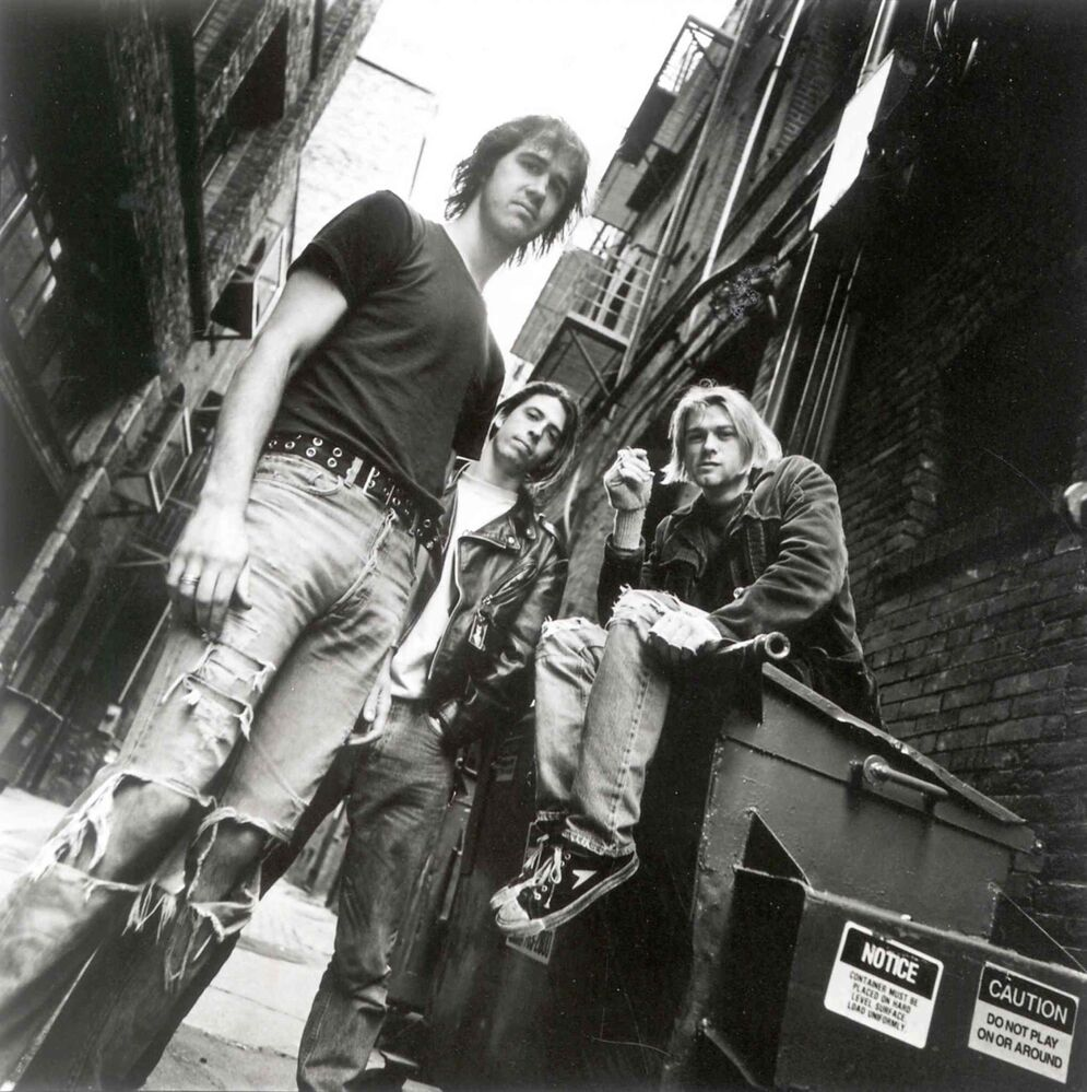 Nirvana in 1991, with Krist Novoselic, left, Dave Grohl and Kurt Cobain. Three years later, Cobain's suicide in Seattle brought Nirvana to a devastating halt. (Chris Cuffaro/David Geffen Co.)