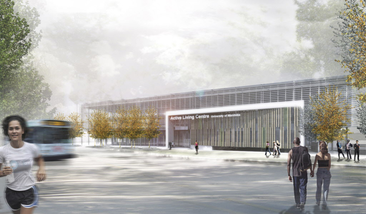 Design shows the U of M's future Active Living Centre